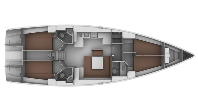 Cruiser 44 Interior Layout